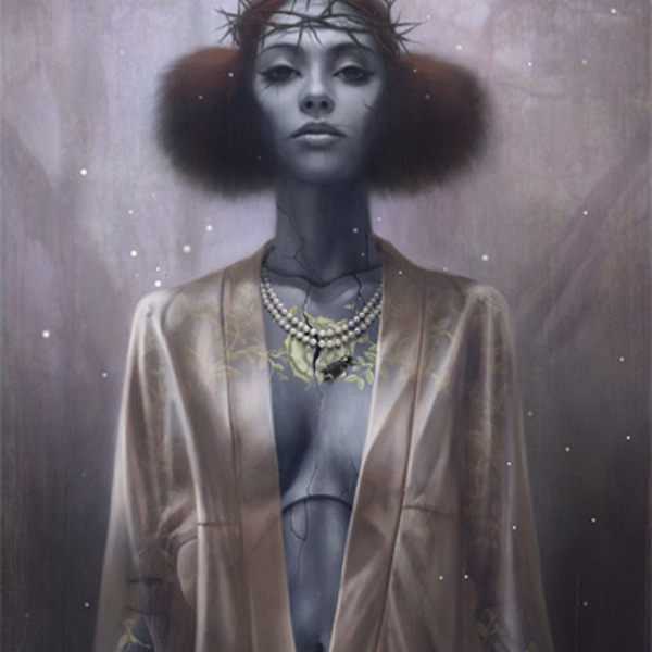 Tom Bagshaw has developed a highly rendered digital painting style through which he explores themes of fantasy, beauty and mysticism. While his work deals with imaginative content, it also aims for...